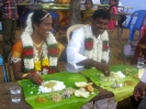 Banu and Gomathi enjoying the lunch-time feast