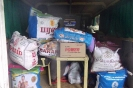 Collection for Flood Relief in back of old ambulance