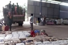 Flood Relief being loaded onto Lorry