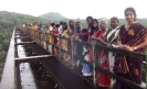 Girls by aqueduct