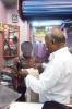 Boy at the textile shop