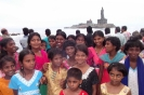 Girls and Thiruvalluvar statue